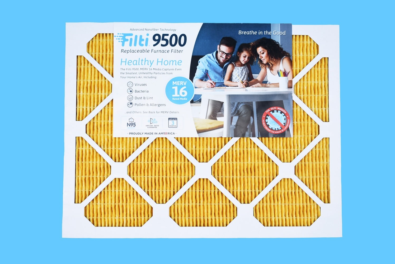 filti 9500 replaceable furnace filter