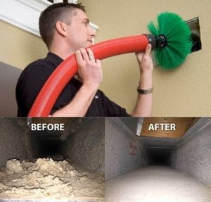 cleaning vents for energy efficiency